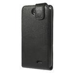 Flipové Cover kožené puzdro na HTC Desire 310- čierné - 3/6