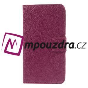 Peňaženkové kožené puzdro na HTC Desire 310- růžové - 3