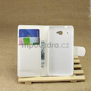 Peňaženkové puzdro pre HTC Desire 601- biele - 3