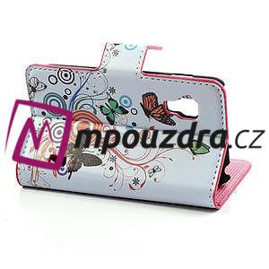 Peňaženkové puzdro pre LG Optimus L5 Dual E455-barevní motýli - 3