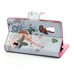Peňaženkové puzdro pre LG Optimus L5 Dual E455-barevní motýli - 3/5