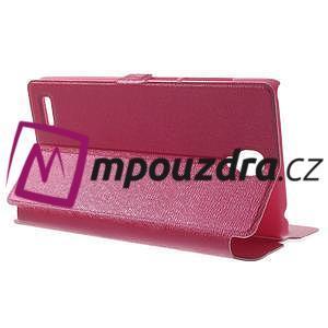 Peňaženkové puzdro na Xiaomi Hongmi Note- růžové - 3