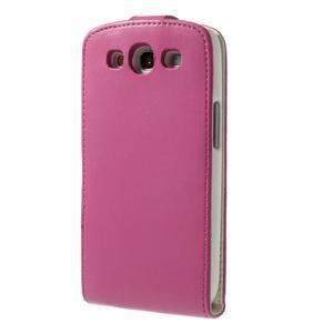 Flipové pozdro pre Samsung Galaxy S3 i9300 - ružová - 3