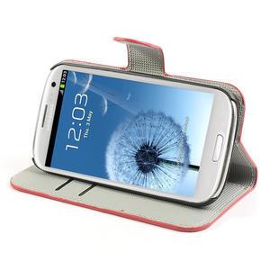Peňaženkové puzdro pre Samsung Galaxy S3 i9300- USA vlajka - 3