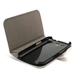 Peňaženkové puzdro na Samsung Galaxy S3 i9300- biele - 3