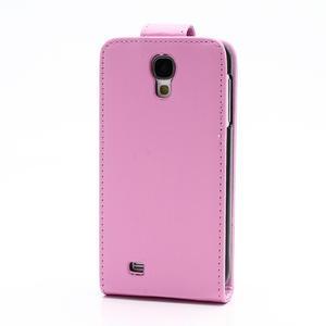 Flipové pouzdro pro Samsung Galaxy S4 i9500- světle-růžové - 3
