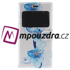 Flipové puzdro na Xiaomi Mi3- modrá lilie - 3