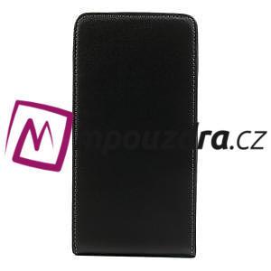 Flipové kožené puzdro pre Samsung Galaxy Note 3- čierné - 3