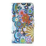 Peňaženkové puzdro pre Samsung Galaxy Note 3- farebné kvety - 3/7