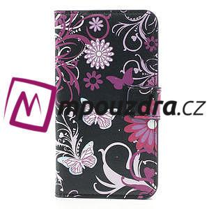 Peňaženkové puzdro na Samsung Galaxy Note 3- motýlci - 3