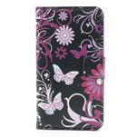 Peňaženkové puzdro na Samsung Galaxy Note 3- motýlci - 3/7