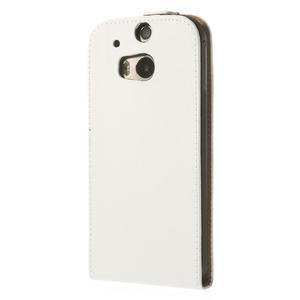 Flipové puzdro pre HTC one M8- biele - 3
