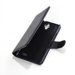 Peňaženkové kožené puzdro na Alcatel One Touch Idol OT-6030D- čierné - 3/6