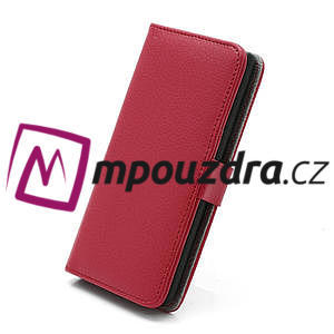 Peňaženkové puzdro pre LG Optimus L7 P700 - červené - 3