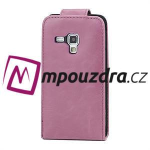 Flipové puzdro pre Samsung Trend plus, S duos -růžové - 3