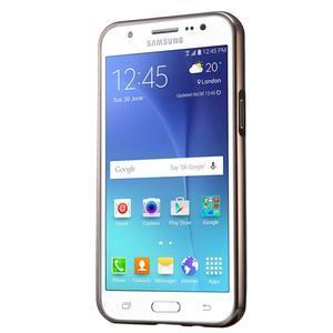 Odolný obal s kovovým obvodem na Samsung Galaxy J5 (2016) - černý - 3
