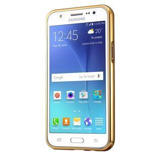 Odolný obal s kovovým obvodem na Samsung Galaxy J5 (2016) - zlatý - 3