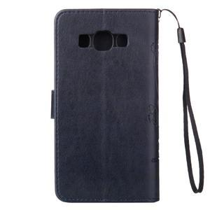 Magicfly PU kožené puzdro na Samsung Galaxy J5 (2016) - tmavomodré - 3