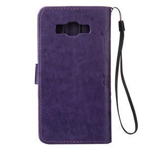 Magicfly PU kožené puzdro na Samsung Galaxy J5 (2016) - fialové - 3