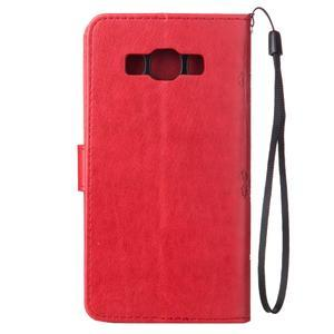 Magicfly PU kožené pouzdro na Samsung Galaxy J5 (2016) - červené - 3