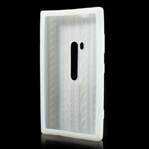 Silokonové PNEU puzdro na Nokia Lumia 920- biele - 3
