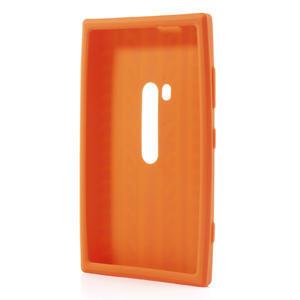 Silikonové PNEU puzdro na Nokia Lumia 920- oranžové - 3