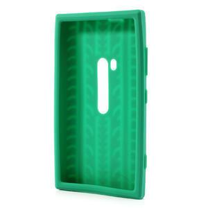 Silokonové PNEU puzdro na Nokia Lumia 920- zelené - 3