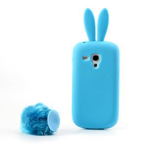 Silikonový králík pro Samsung Galaxy S3 mini i8190- modrý - 3