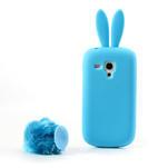 Silikonový králík pro Samsung Galaxy S3 mini i8190- modrý - 3/7