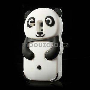 3D Silikonové puzdro pre Samsung Galaxy S3 mini / i8190 - vzor čierná panda - 3