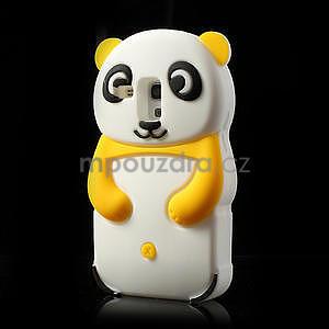 3D Silikonové puzdro pre Samsung Galaxy S3 mini / i8190 - vzor žltá panda - 3