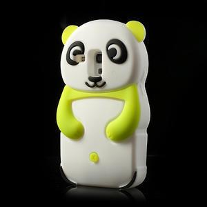 3D Silikonové puzdro pre Samsung Galaxy S3 mini / i8190 - vzor zelená panda - 3