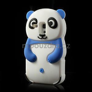 3D Silikonové puzdro pre Samsung Galaxy S3 mini / i8190 - vzor modrá panda - 3
