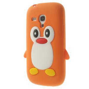 Silikonový TUČŃÁK puzdro na Samsung Galaxy S3 mini i8190- oranžový - 3
