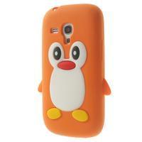 Silikonový TUČŃÁK puzdro na Samsung Galaxy S3 mini i8190- oranžový - 3/7