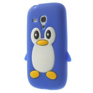 Silikonový tučniak puzdro pre Samsung Galaxy S3 mini i8190- modrý - 3