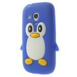 Silikonový tučniak puzdro pre Samsung Galaxy S3 mini i8190- modrý - 3/7