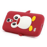 Silikon 3D TUČŇÁK pro Samsung Galaxy S4 mini i9190- červený - 3/5