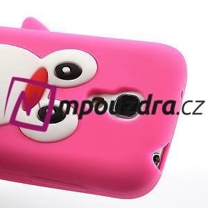 Silikon 3D TUČŇÁK pro Samsung Galaxy S4 mini i9190- růžový - 3