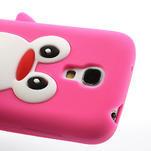 Silikon 3D TUČŇÁK pro Samsung Galaxy S4 mini i9190- růžový - 3/5