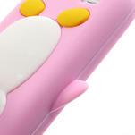 Silikon 3D TUČŇÁK pro Samsung Galaxy S4 mini i9190- světlerůžový - 3/5