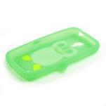Silikon 3D TUČŇÁK pro Samsung Galaxy S4 mini i9190- zelený - 3/5