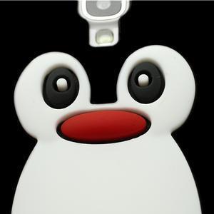 Silikonový Tučniak puzdro pro Samsung Galaxy S4 i9500- čierný - 3