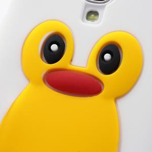 Silikonový Tučňák pouzdro pro Samsung Galaxy S4 i9500- bílý - 3