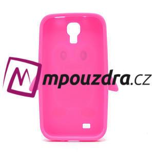Silikonový Tučniak puzdro pro Samsung Galaxy S4 i9500- ružový - 3
