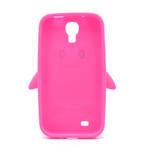 Silikonový Tučniak puzdro pro Samsung Galaxy S4 i9500- ružový - 3/5