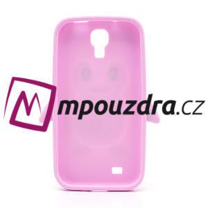 Silikonový Tučniak puzdro pro Samsung Galaxy S4 i9500- svetlo-ružový - 3