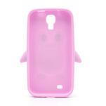 Silikonový Tučniak puzdro pro Samsung Galaxy S4 i9500- svetlo-ružový - 3/7