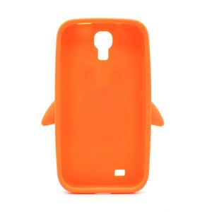 Silikonový Tučniak puzdro pro Samsung Galaxy S4 i9500- oranžový - 3