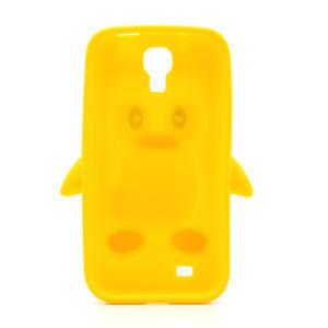 Silikonový Tučňák pouzdro pro Samsung Galaxy S4 i9500- žlutý - 3